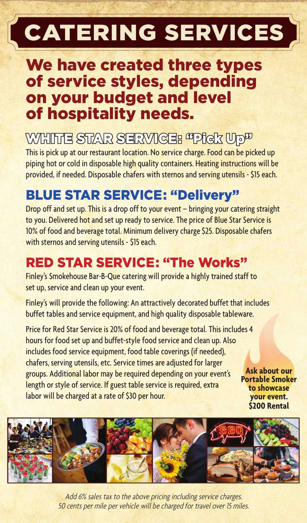 Catering & Delivery Restaurant Services in Battle Creek, Jackson, Kalamazoo & Lansing, Michigan